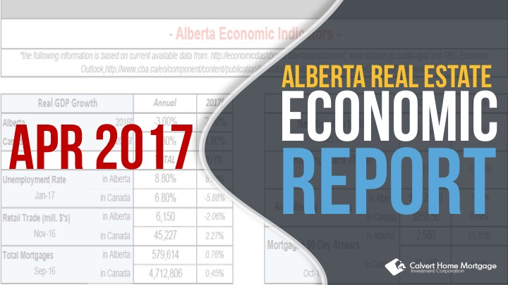 Alberta Real Estate Benchmark and Economic Report – April 2017