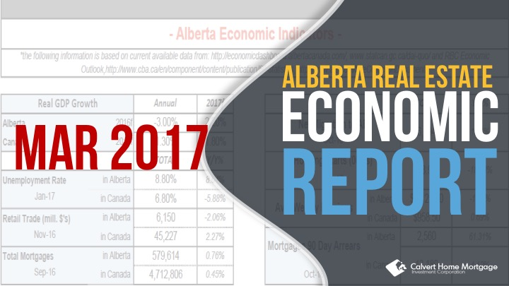 Alberta Real Estate Benchmark and Economic Report – March 2017