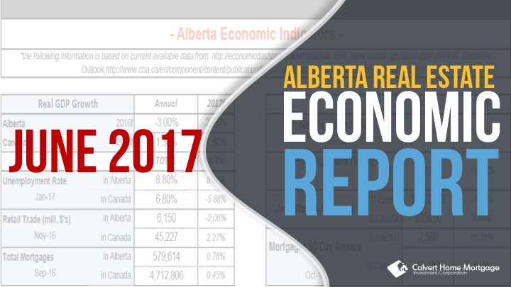 June 2017 – Alberta Real Estate Benchmark and Economic Report
